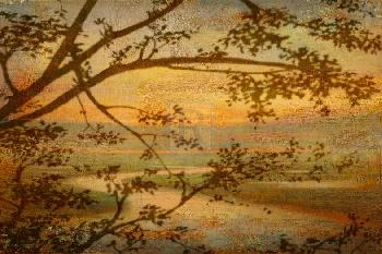 Mark Chandon Tranquil Landscape Giclee on Canvas