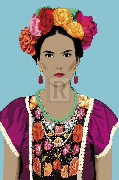 Mark Chandon Senora Con Las Flores Giclee Canvas