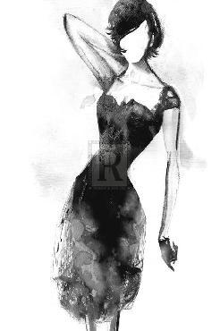 Mark Chandon Fashionista  -  Ebony Giclee Canvas