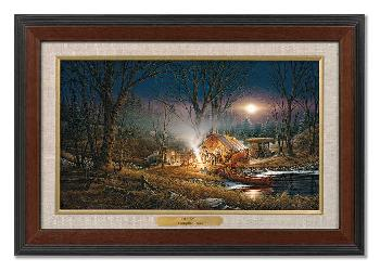 Terry Redlin Campfire Tales Master Stroke Collection Canvas Framed Grain