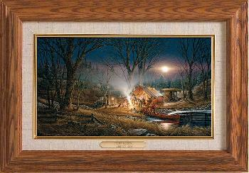 Terry Redlin Campfire Tales Master Stroke Collection Canvas Framed Oak
