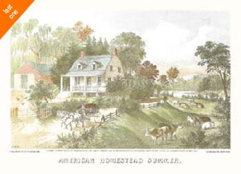 Currier and Ives American Homestead Summer NO LONGER IN PRINT - LAST ONES!!