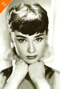 ANONYMOUS Audrey Hepburn - Sepia NO LONGER IN PRINT - LAST ONE!!