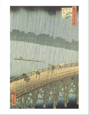 Utagawa Hiroshige Sudden Shower Over Ohashi