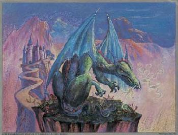 Judy Mastrangelo Green Dragon Foil