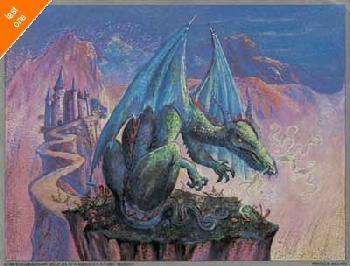 Judy Mastrangelo Green Dragon Foil LAST ONES IN INVENTORY!!