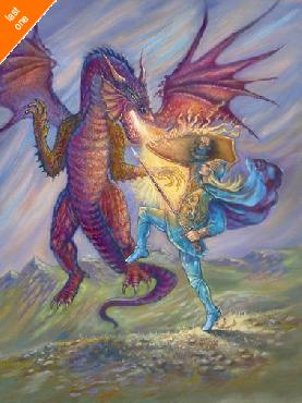 Judy Mastrangelo Dragon And Blue Knight   LAST ONES IN INVENTORY!!