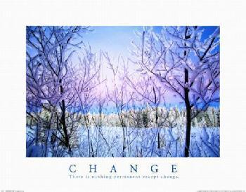 Motivational Change-Snowy Trees