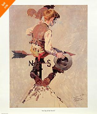 Norman Rockwell On Top of the World NO LONGER IN PRINT - LAST ONE!!