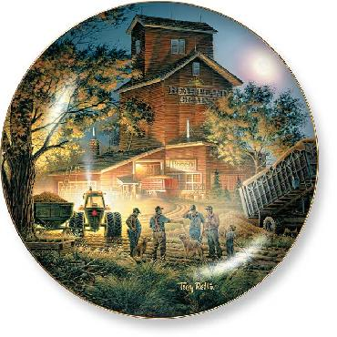 Terry Redlin Bountiful Harvest Collector Plate