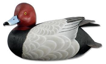 Sam Nottleman Redhead Duck Quarter Lifesize Decoy Sculpture