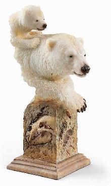Joe Slockbower Snow Cone   -   Polar Bears Sculpture