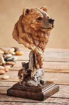 Joe Slockbower Silvertip   -   Grizzly Bear Sculpture