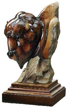 Stephen Herrero Like A Rock   -   Bison Sculpture