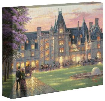 Thomas Kinkade Elegant Evening At Biltmore Open Edition Wrapped Canvas