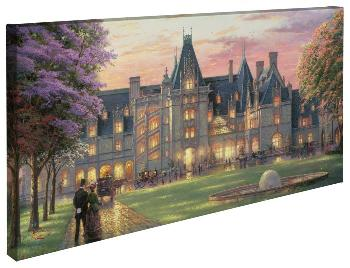 Thomas Kinkade Elegant Evening At Biltmore Open Edition Wrapped Canvas