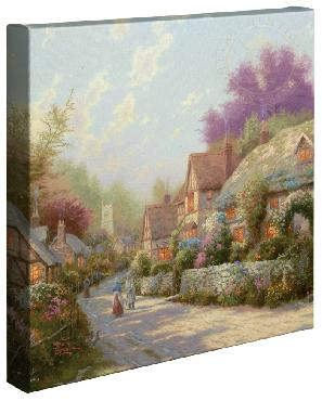 Thomas Kinkade Cobblestone Village Open Edition Wrapped Canvas