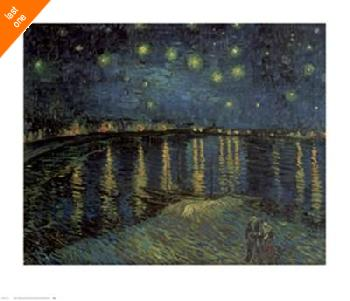 Vincent Van Gogh Starlight over the Rhone Embossed Authorized Edition LAST ONE!!