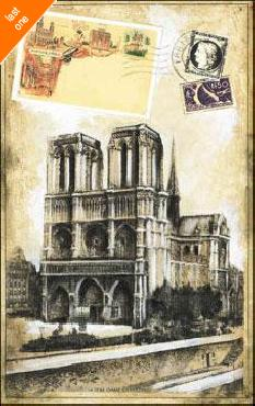 Ruth Franks My Paris Souvenir II Canvas LAST ONES IN INVENTORY!!