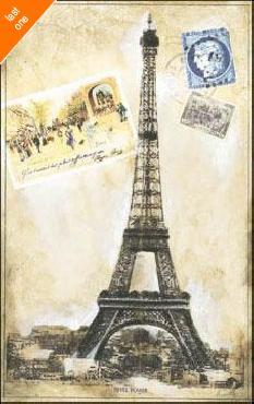 Ruth Franks My Paris Souvenir III Canvas LAST ONES IN INVENTORY!!