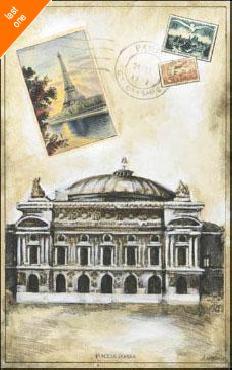 Ruth Franks My Paris Souvenir IV Canvas LAST ONES IN INVENTORY!!