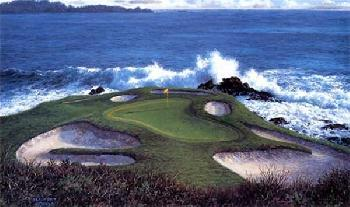 Larry Dyke The 7th at Pebble Beach