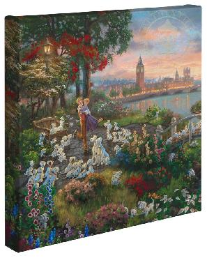 Thomas Kinkade 101 Dalmations Open Edition Wrapped Canvas