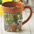 Bourdet Garden Delights Sculpted Mug