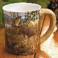 Sieve Cotton Grass Meadow Moose Sculpted Mug