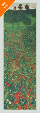 Gustav Klimt A Field of Poppies NO LONGER IN PRINT - LAST ONE!!