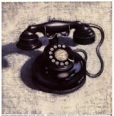 Emily Adams Telephone  -  Noir