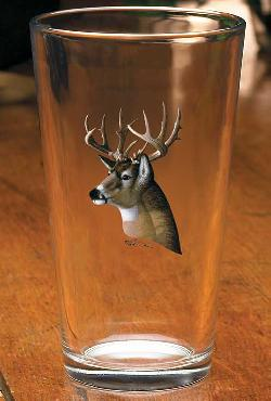 Michael Sieve Whitetail Deer Portrait Glassware Mixers