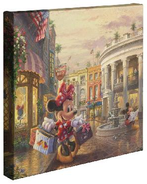 Thomas Kinkade Minnie Rocks The Dots On Rodeo Drive Open Edition Wrapped Canvas