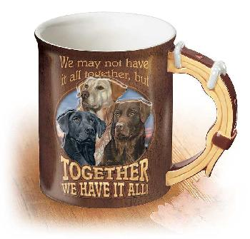 Scot Storm All Together   -   Dogs Sculpted Mug