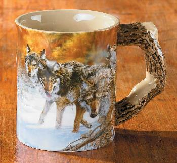 Lee Kromschroeder Body Language   -   Wolves Sculpted Mug