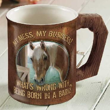 Persis Clayton Weirs My Mess, My Business   -   Horse Sculpted Mug