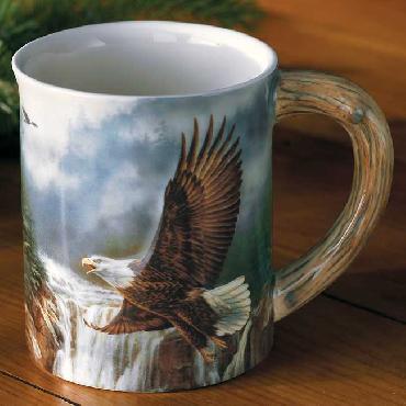 Rosemary Millette Majestic Flight   -   Bald Eagle Sculpted Mug