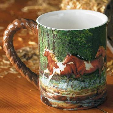 Chris Cummings Spring Creek Run   -   Horses Sculpted Mug