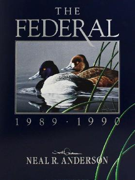 Neal Anderson 1989 - 1990 The Federal Signed Open Edition on Paper