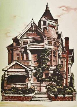 G Russell Victorian Mansion Signed Limited Edition of 325