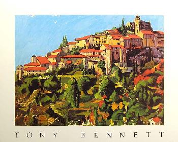 Tony Bennett South of France Hand Signed Open Edition