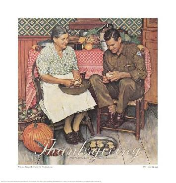 Norman Rockwell Home For Thanksgiving Giclee