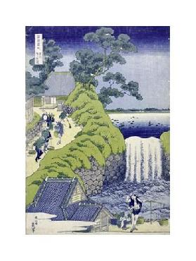 Katsushika Hokusai Aoigaoka Waterfall In The Eastern Capital Giclee on Canvas