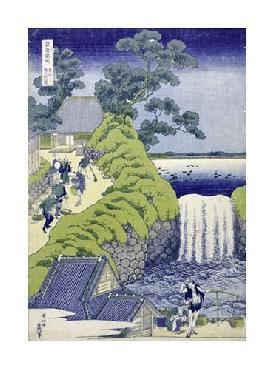 Katsushika Hokusai Aoigaoka Waterfall In The Eastern Capital Giclee on Canvas