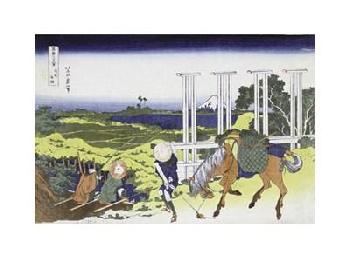Katsushika Hokusai Senju In Musashi Province Giclee on Canvas
