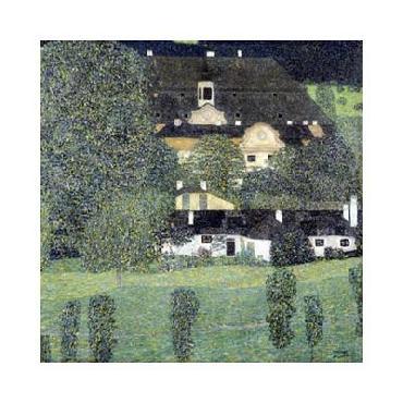 Gustav Klimt Schloss Kammer Am Attersee II Giclee on Canvas