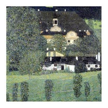 Gustav Klimt Schloss Kammer Am Attersee II Giclee on Canvas