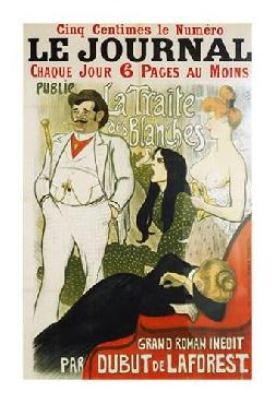 Theophile Alexandre Steinlen Le Journal La Traite Des Blanches Giclee on Canvas