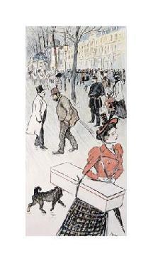 Theophile Alexandre Steinlen A Street Scene Giclee