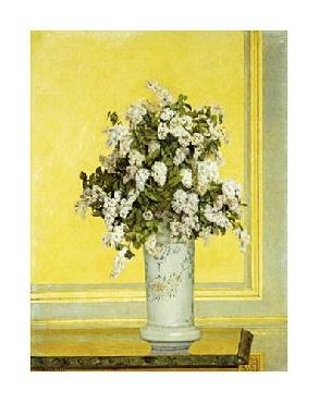 Auguste Hector Cabuzel Floral Still Life Giclee on Canvas
